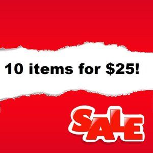 🔴 Red Dot in Title - 10 items for $25 Sale!!🔴